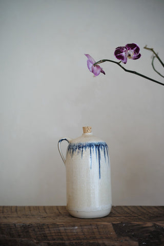 handmade, jugs, indigo, ceramics, pottery, kitchen, local art, art, fine art