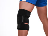 Knee Soft Brace Ice Pack + Compression<br> 360º knee Icing for 15-20 min @ 32º f<br> Ortho MDs Recommended Safe and Effective. <br>Universal Size. Clinical Quality. Made in USA.