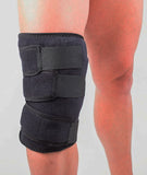 Knee Soft Brace Ice Pack + Compression - 360º knee Icing for 15-20 min @ 32ºf Ortho MDs Recommended Safe and Effective. Universal Size. Clinical Quality. Made in USA.