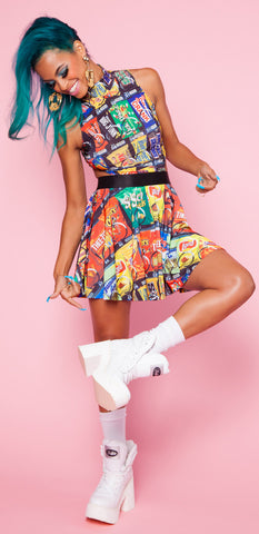 Vending Machine Shake It Cutout Dress