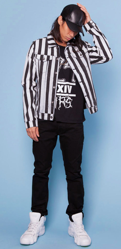 Blow The Whistle! Referee Stripe Trucker Jacket