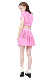 Behind the Pew Pleated Skirt- Pink