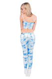 Cloudy Skies Vinyl Pants With Exposed Fly And Pocket Zips