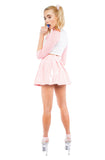 Pink Princess Pastel Vinyl Skirt