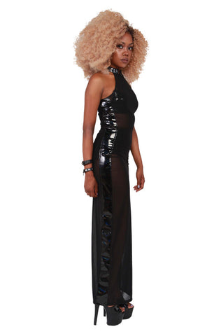 Ignoring Your Confessions Maxi Dress W/ Lock Detail! - Black
