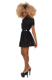 Behind the Pew Pleated Skirt- Black