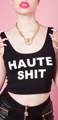 Haute Sh*t Graphic Crop Tank
