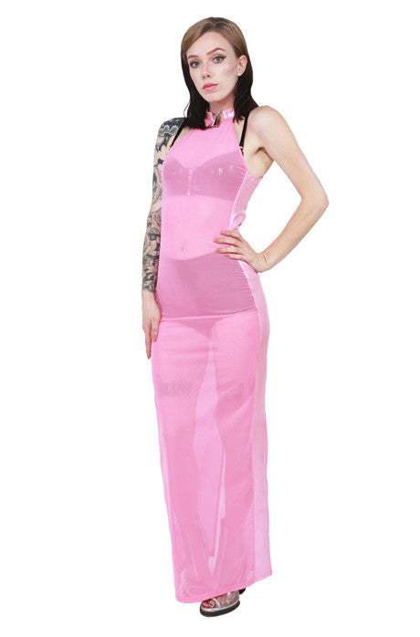 Ignoring Your Confessions Maxi Dress W/ Lock Detail! Pink