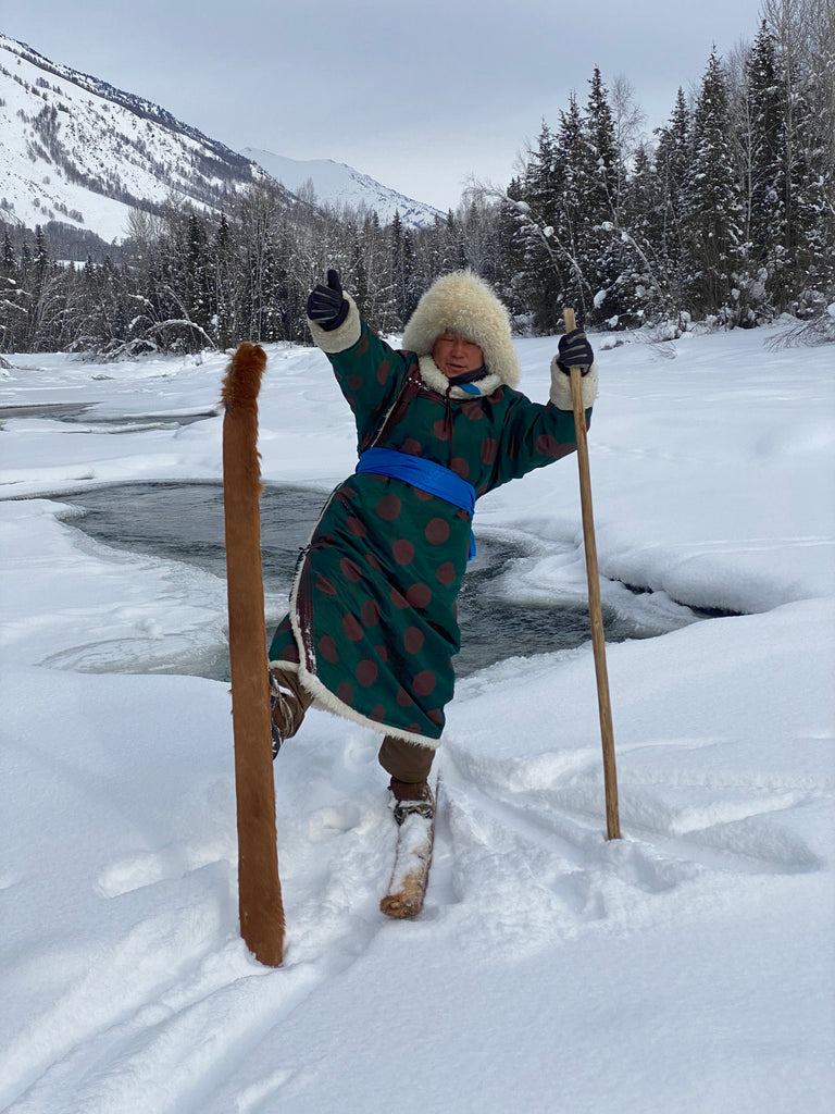 Skis were initially used by mountain people as a tool of travel and survival.