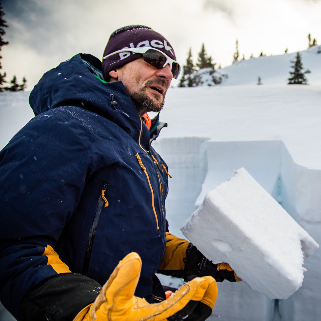 Jacob Urban discusses the snowpack during an avy course with the Jackson Hole Outdoor Leadership Institute.