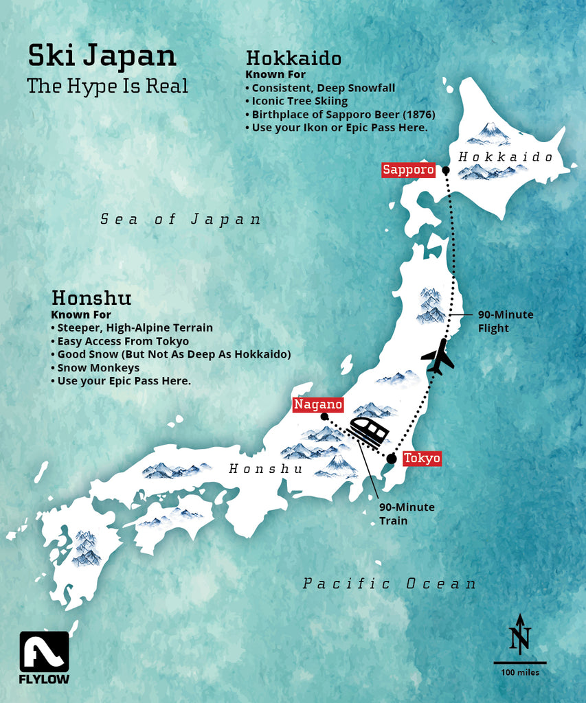 Where to ski in Japan