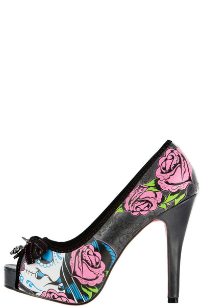 Sugar Witch Peeptoe Platform