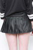 Vinyl Classic Pleated Skirt (Matte Black)
