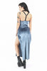At Dusk Velvet Maxi Dress (Dusty Blue)