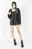 Daddy Fur Hooded Jacket (Black)