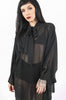 Deathwish Batwing Dress (Black)