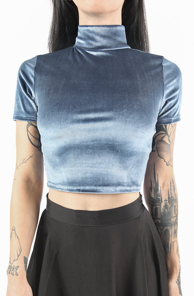 Four Horsemen Crop Top (Dusty Blue)
