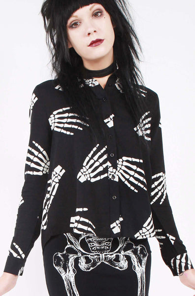 Fingers To The Bone Crop Shirt