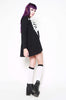 Wishbone Trapeze Dress (Black)