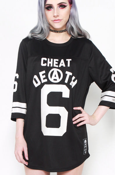Cheat Death Football Tee