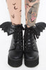 Bat Wing Boot - Black
