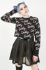 Daddy Jacquard Sweater (Black)