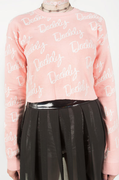 Daddy Jacquard Sweater (Pink)