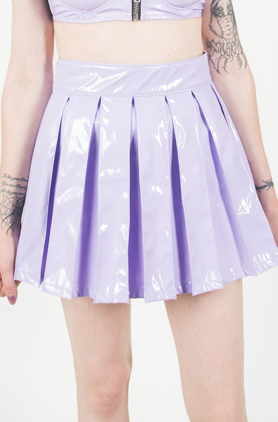 Vinyl Classic Pleated Skirt (Purple)