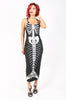 Iron Fist Clothing UK 2017 Spring Style Bone Deep Iridescent Dress Black 1