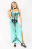 Iron Fist Clothing UK 2017 Spring Style Bone Deep Mesh Maxi Dress Aqua 1