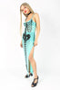 Iron Fist Clothing UK 2017 Spring Style Bone Deep Mesh Maxi Dress Aqua 2