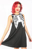 Iron Fist Clothing UK 2017 Spring Style Bone In Trapeze Dress Black 1