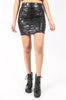 Iron Fist Clothing UK 2017 Spring Style Skullz CLub Mini Skirt  Black 5