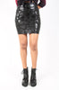 Iron Fist Clothing UK 2017 Spring Style Skullz CLub Mini Skirt  Black 6