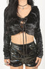 Velvet Crush Lace Up Hoodie