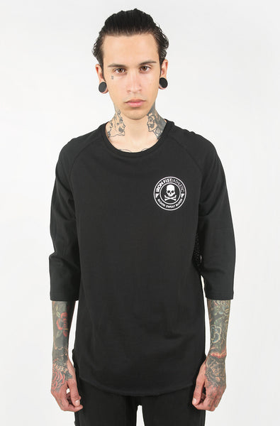 Cross Bones Mesh Back Raglan