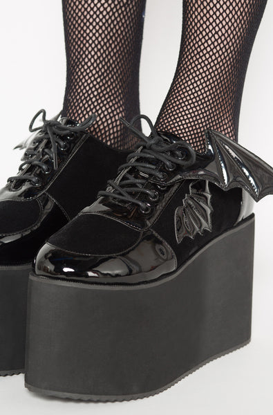 Iron Fist Clothing UK 2017 Spring Bat Shoes Creature Of The Night Flatform Black 1