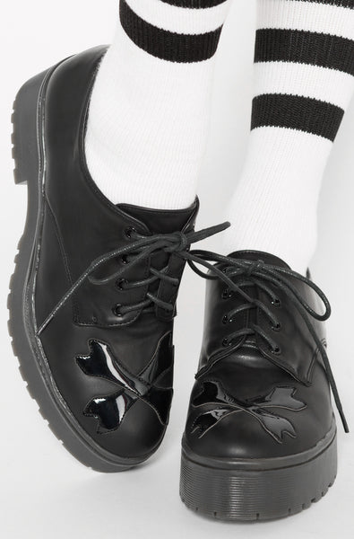 Hey You Guys Cleated Sole Flat (Black)