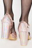 Iron Fist Clothing UK 2017 Spring Shoes Mother Of Pearls Heels Pink 3