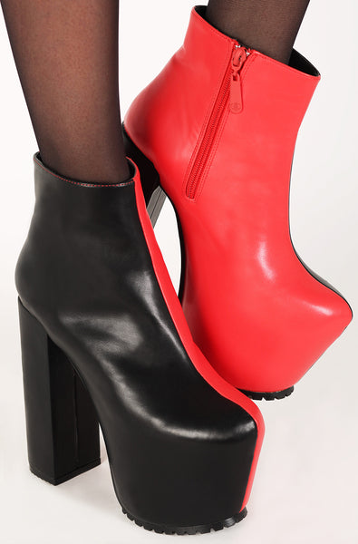 Two Faced Bootie (Black/Red)