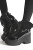 Iron Fist Clothing UK 2017 Spring Shoes Bat Royalty Bat Wing Patent Boots Black 5