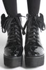 Iron Fist Clothing UK 2017 Spring Shoes Bat Royalty Bat Wing Patent Boots Black 2
