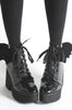Iron Fist Clothing UK 2017 Spring Shoes Bat Royalty Bat Wing Patent Boots Black 4