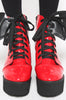 Iron Fist Clothing UK 2017 Spring Shoes Bat Royalty Bat Wing Patent Boots Red 2