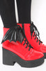 Iron Fist Clothing UK 2017 Spring Shoes Bat Royalty Bat Wing Patent Boots Red 5