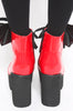 Iron Fist Clothing UK 2017 Spring Shoes Bat Royalty Bat Wing Patent Boots Red 3