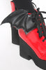 Iron Fist Clothing UK 2017 Spring Shoes Bat Royalty Bat Wing Patent Boots Red 6