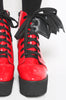 Iron Fist Clothing UK 2017 Spring Shoes Bat Royalty Bat Wing Patent Boots Red 4