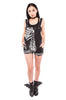 iron fist clothing ladies denim wishbone overalls black skeleton UK 05