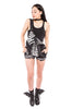 iron fist clothing ladies denim wishbone overalls black skeleton UK 02